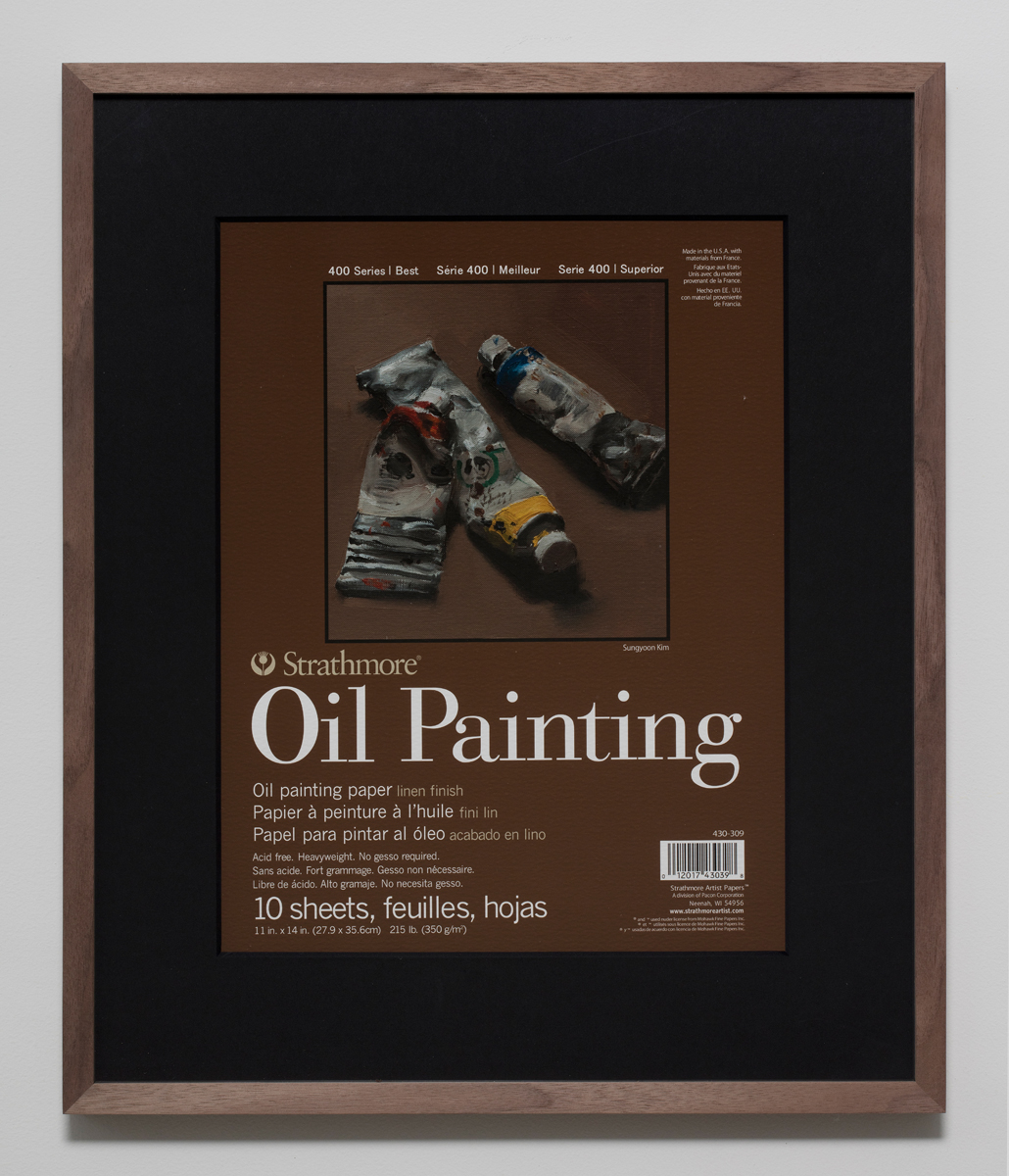 400 Series Oil Painting(1), 2018, Inkjet print on paper in walnut frame, 50.5 x 42.5 cm 이미지 제공: 갤러리현대 Courtesy of the artist and Gallery Hyundai.