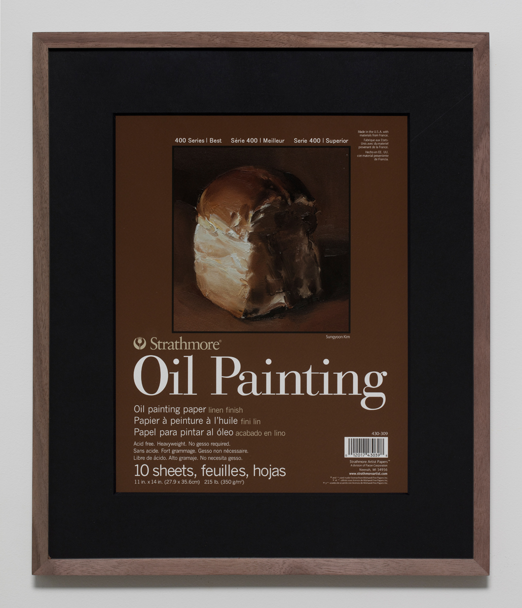 400 Series Oil Painting(6), 2018, Inkjet print on paper in walnut frame, 50.5 x 42.5 cm 이미지 제공: 갤러리현대 Courtesy of the artist and Gallery Hyundai.