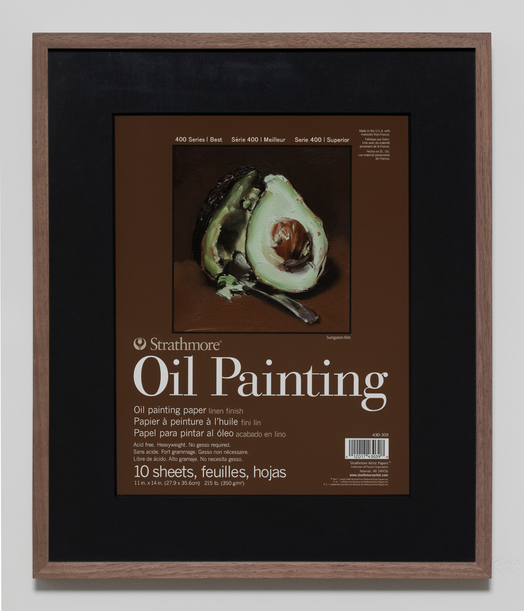 400 Series Oil Painting(7), 2018, Inkjet print on paper in walnut frame, 50.5 x 42.5 cm 이미지 제공: 갤러리현대 Courtesy of the artist and Gallery Hyundai.